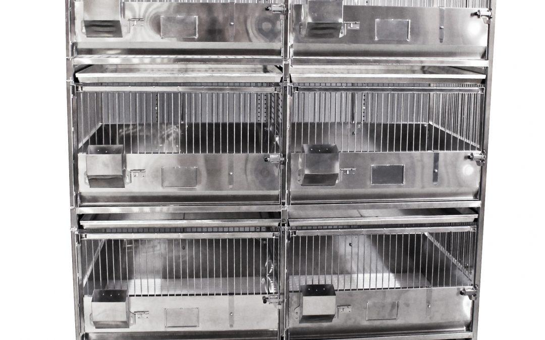Rabbit Housing 6-Cage 4 Sq. Ft. Unit