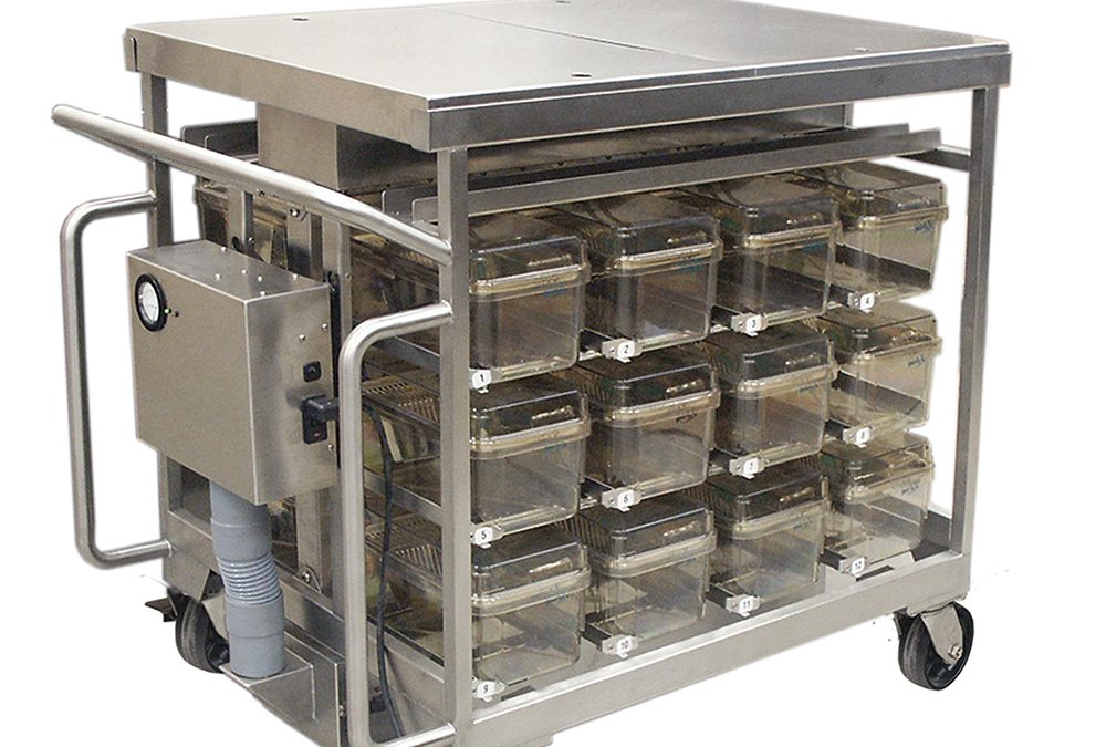 Gentle-Air Principal Investigator 24-Cage P.I. Mobile Unit for Dura Cage Mouse Cages