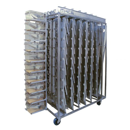 Cage Stack Transport Cart - 18 Stacks