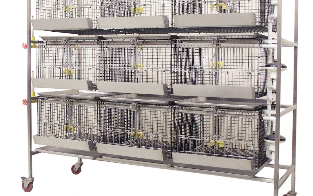 Poultry Start Grow 9-Cage Housing Unit